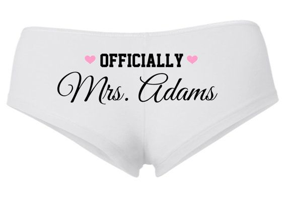 PERSONALIZED OFFICIALLY MRS underwear shortie by TheNewMrsShoppe, $12.99