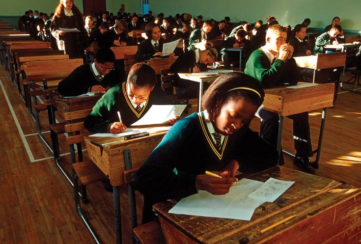 Education: Kids in South Africa go to school. They have papers, projects, and tests just like we do. They have one to two hours of homework a night.
