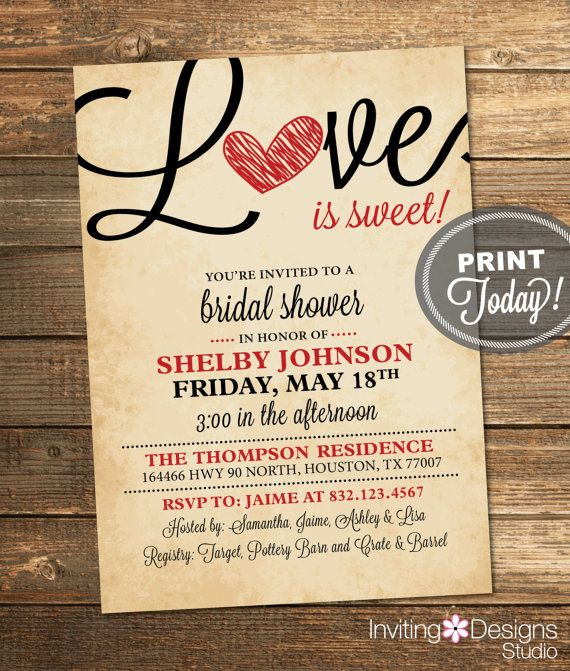 Hey, I found this really awesome Etsy listing at https://www.etsy.com/listing/173426157/valentine-bridal-shower-invitation-love