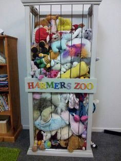 Perfect home for that mountain of stuffed animals in your house.