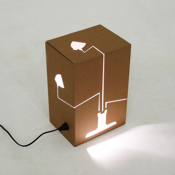 Not a lamp by david graas lighting pinterest studio tv set design and exhibition display - Diy cardboard furniture design ...
