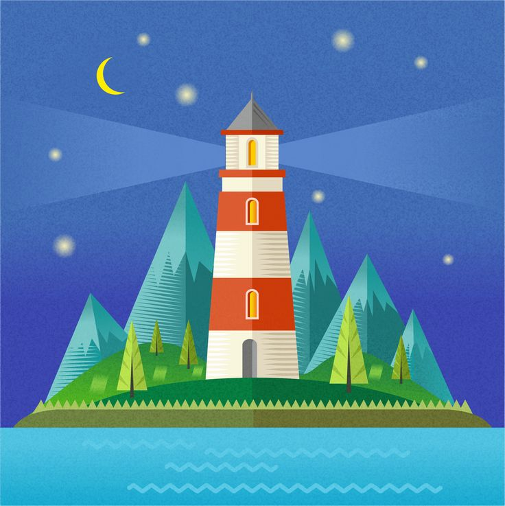 Lighthouse. illustration by Kristina Slava