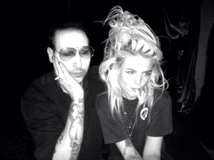 Marilyn Manson & Alison Mosshart at Teddy's Fridays
