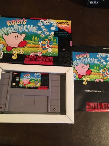 Kirby's Avalanche Complete in Box Game Super Nintendo Console SNES System CIB: $59.95 End Date: Saturday Mar-17-2018 19:21:35 PDT Buy It…