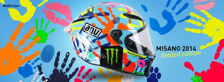Racing Helmets Garage: Agv Corsa Replica Valentino Rossi Misano 2014 Limited Edition 2015