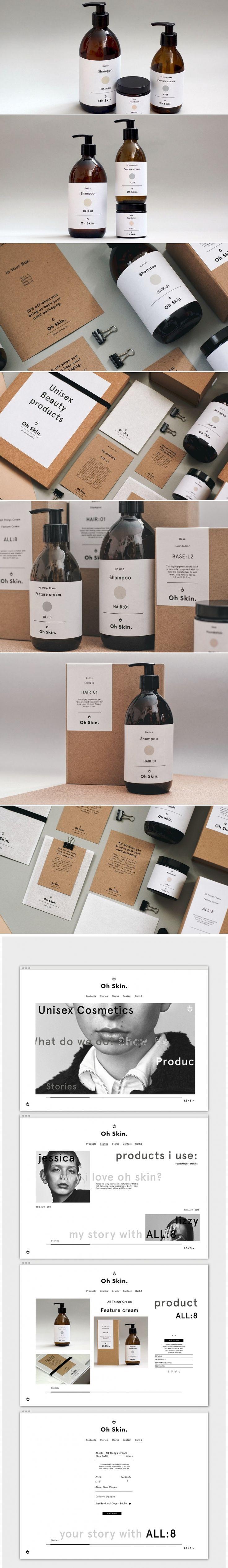 Oh Skin Unisex Cosmetics — The Dieline - Branding & Packaging Design