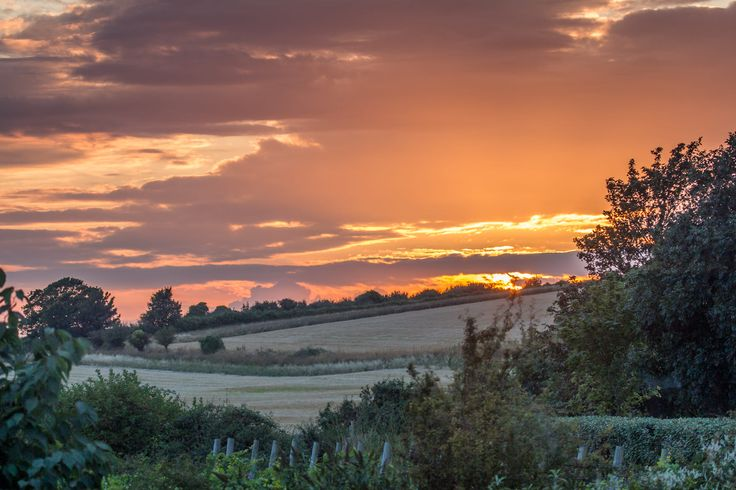 Sunset over the Sussex Downs by Nick Powell
