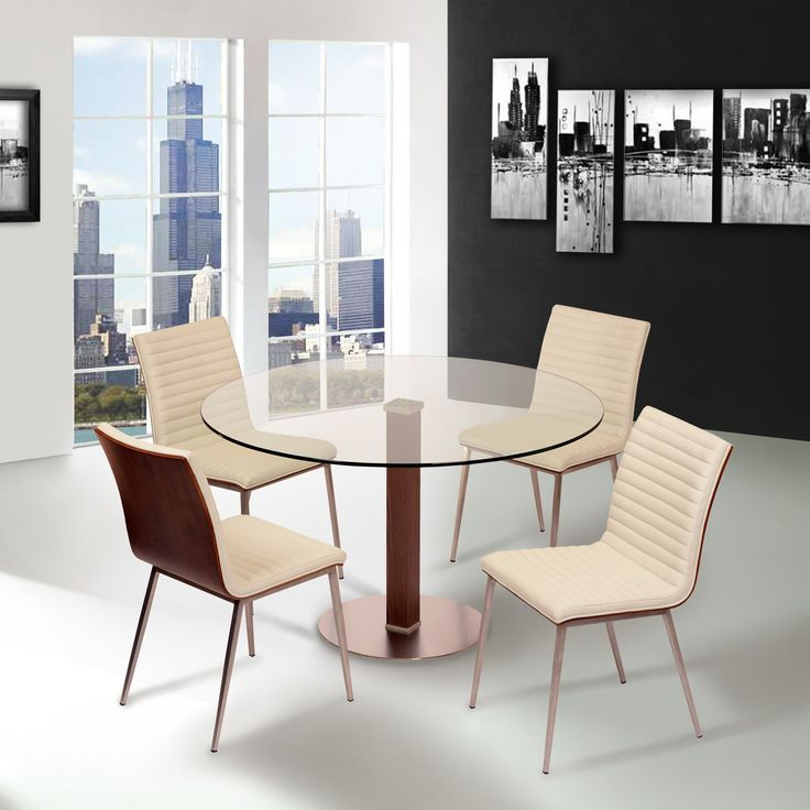 white contemporary dining room sets. Cafe White 5 Piece Stainless Dining Room Set  Contemporary 30 best Dress Up images on Pinterest Board