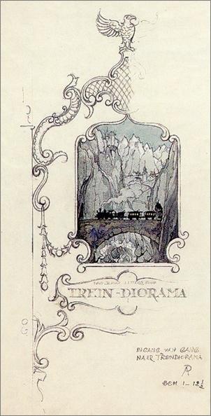 Anton Pieck - Trein Diorama (Efteling)