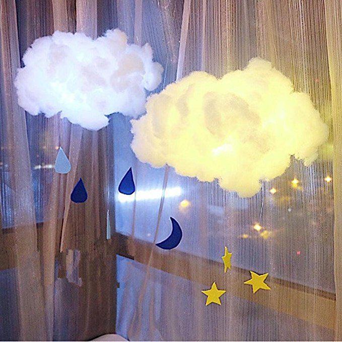 Highpot Baby Night Light Cute Cotton Cloud Shape Lamp Diy Handmade Nightlight For Kids Bedroom Home Decor Cute Night Lights Cloud Lights Baby Night Light