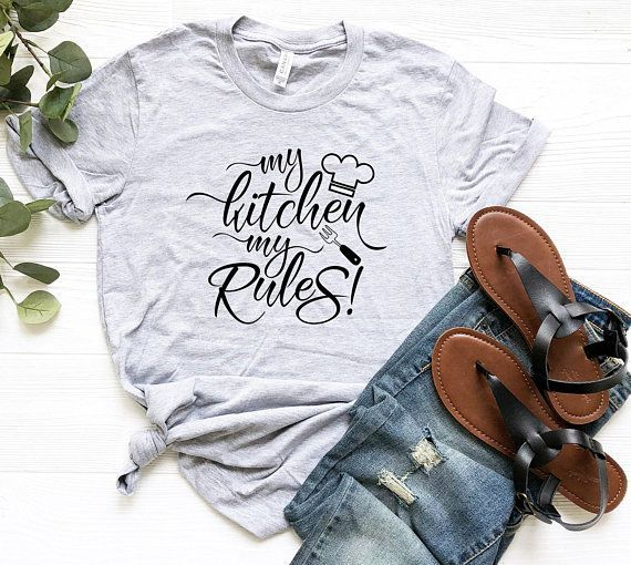 Men's My Kitchen My Rules Funny T-Shirt,My Rules Shirt, Funny Chef T-shirt, Funny Chef Shirt, Chef Gift, Culinary Student Gift, Gift For Mom 2