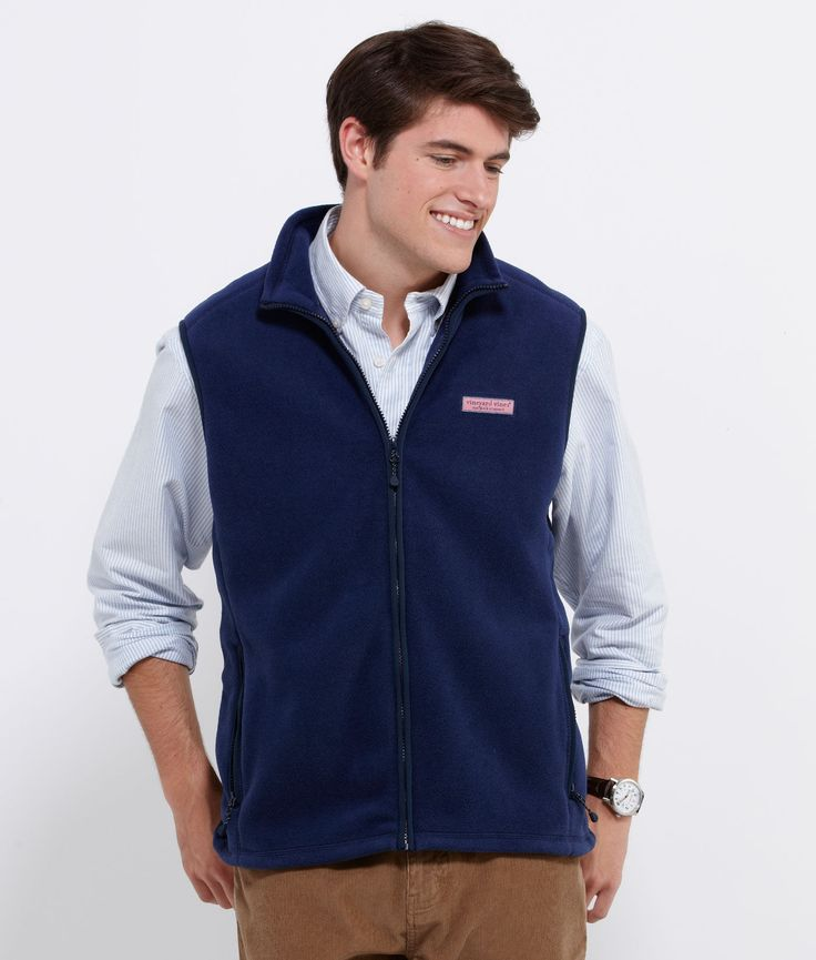 Men's Vests and Outerwear: Harbor Fleece Vest for Men – Vineyard Vines | Random | Pinterest ...