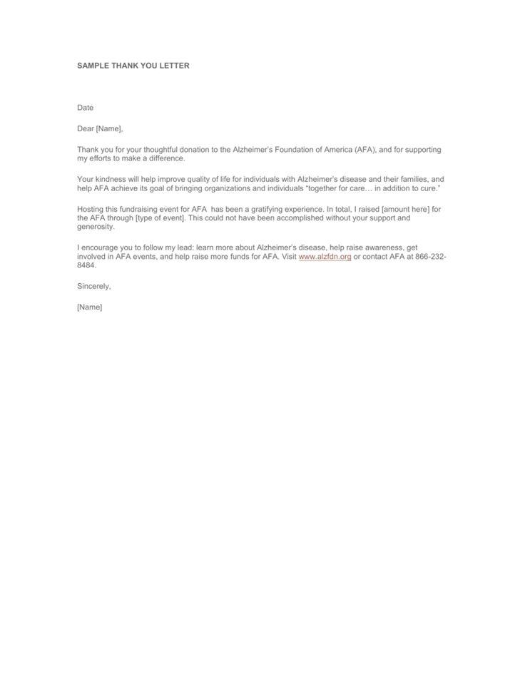 sample thank you letter alzheimer foundation america