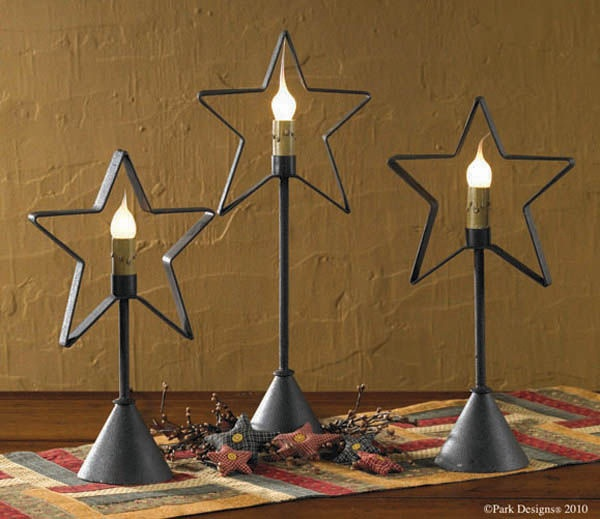 Primitive Star Candlestick Lamp