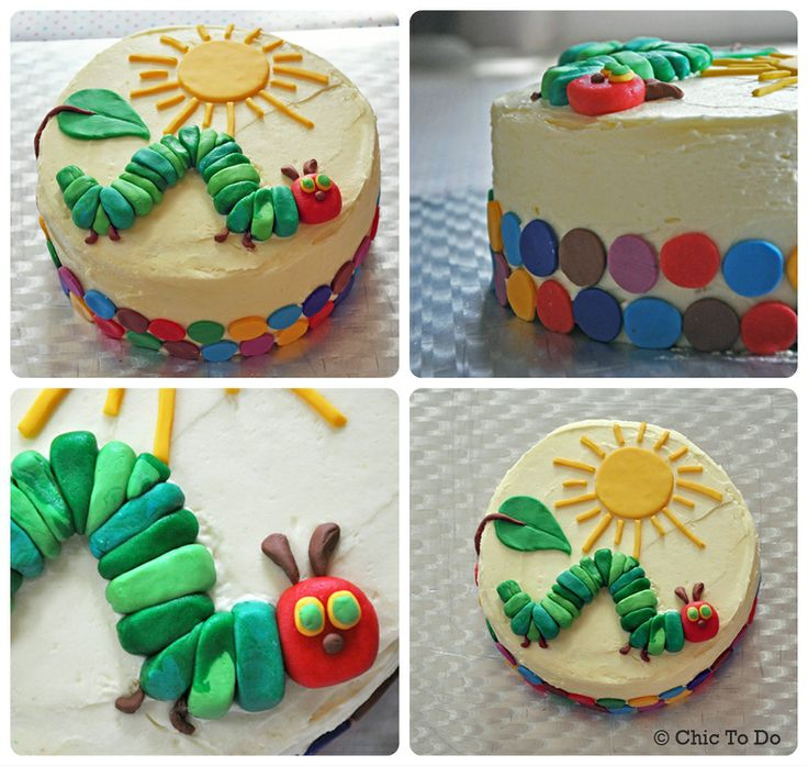 The Very Hungry Caterpillar birthday cake that's easy to make!