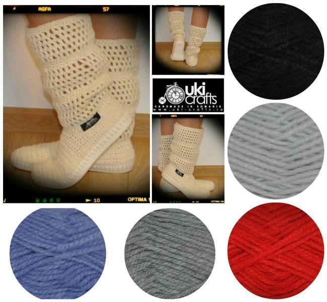 Crochet boots summer boots woman  for street  from Uki-Crafts by DaWanda.com