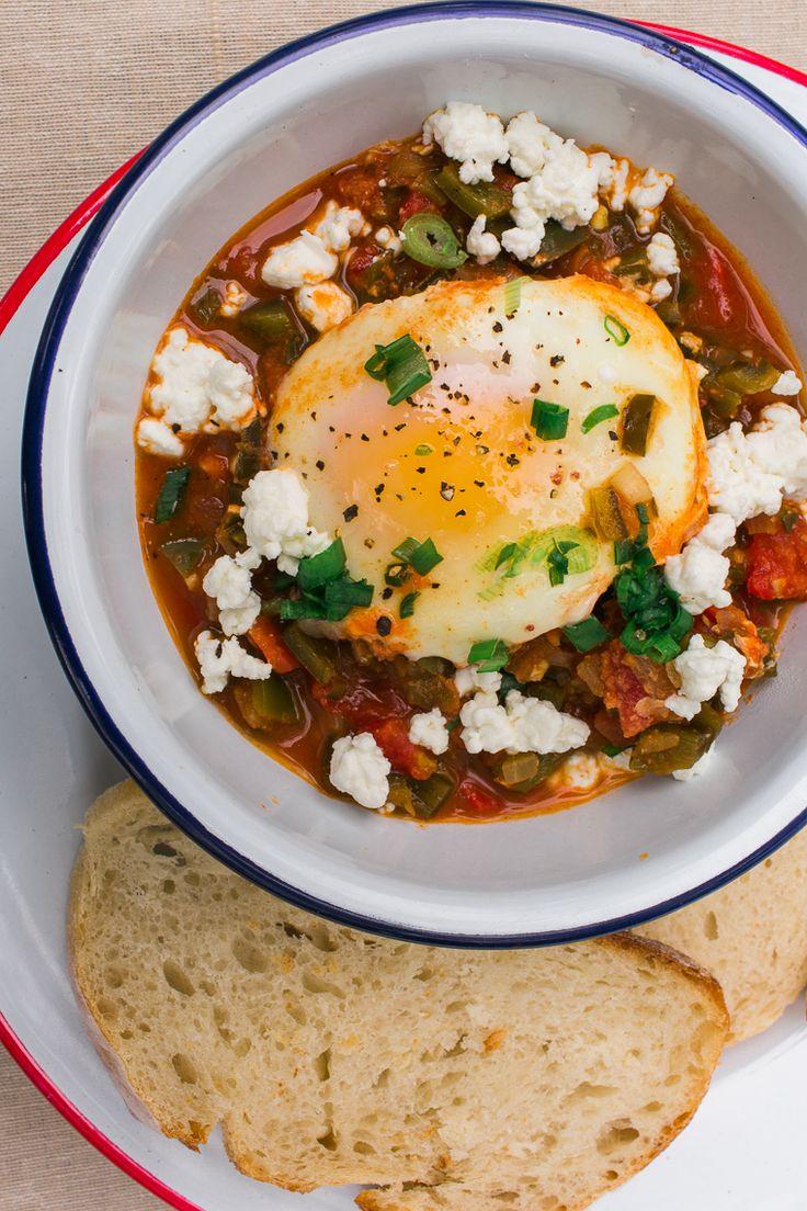 Shakshuka is a great one pot vegetarian camping breakfast or dinner!