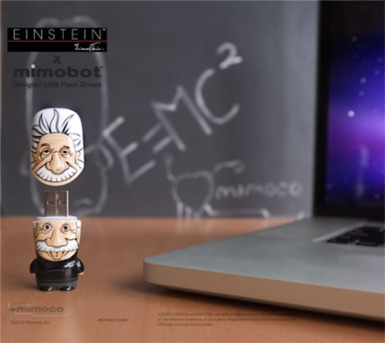 """The first in a brand-new series of MIMOBOT flash drives from Mimoco honoring iconic figures in history, """"The Legends of MIMOBOT Series"""", is none other than"""