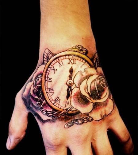 de reloj en la mano tatuaje de reloj en la mano tatuajes de ...