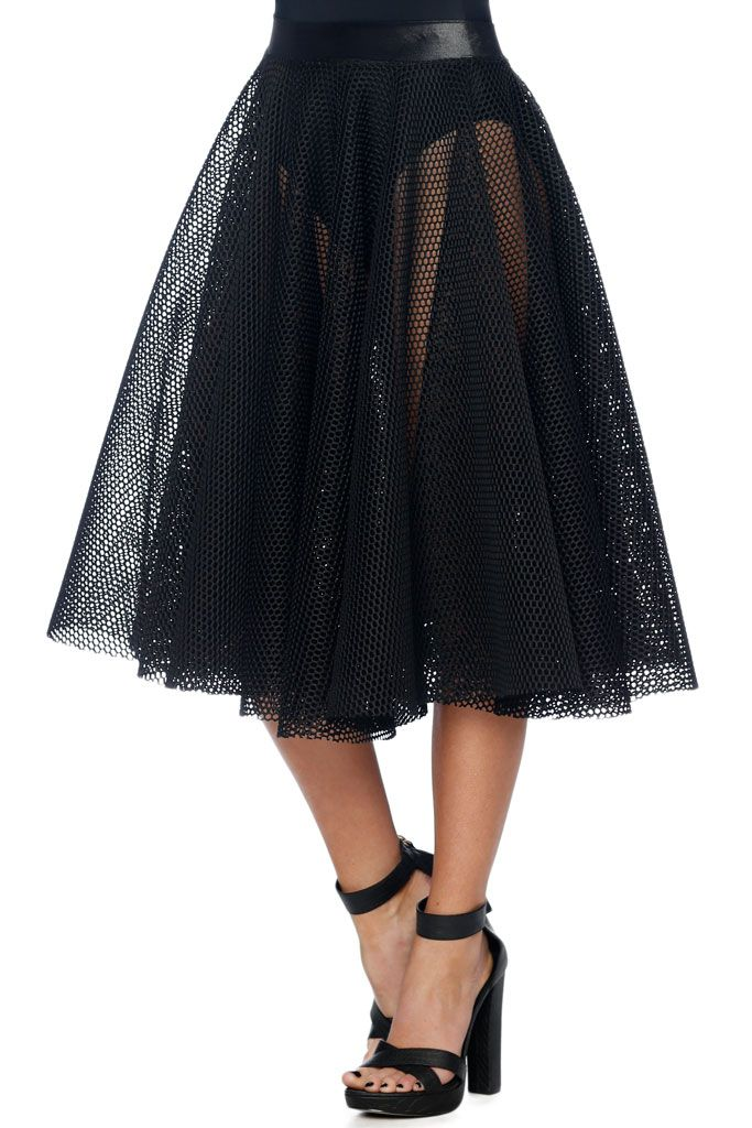 Caught Midi Skirt - CAPPED PRESALE (AU $80AUD) by BlackMilk Clothing
