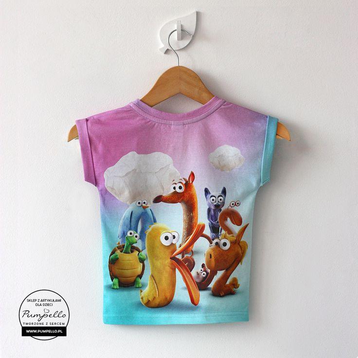 Zwierzątka koszulka dla dzieci różowa