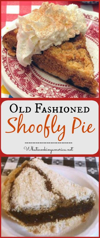 Old Fashioned Shoofly Pie Recipe  |  whatscookingamerica.net  |  #shoofly #pie…