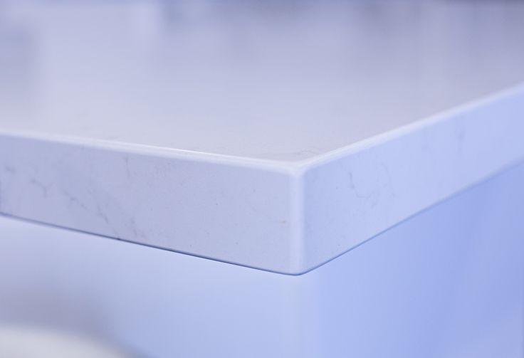 Caesarstone Frosty Carrina, edge detail
