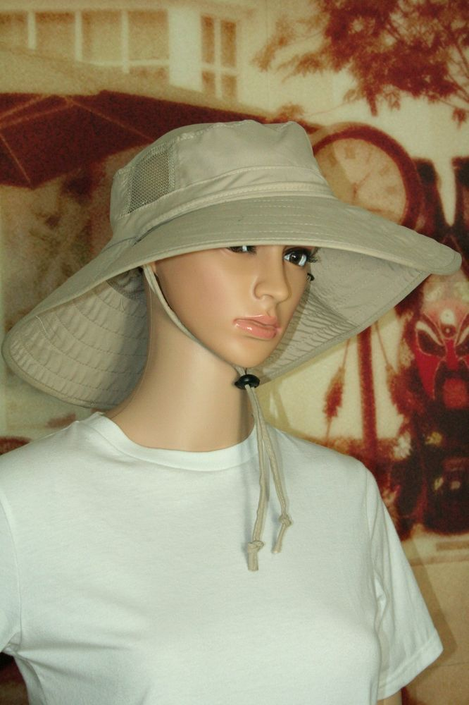 Sun Protection Zone adult booney hat unisex lightweight adjustable khaki   SunProtectionZone 252d4951c9bc