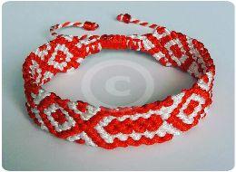 Bratara martisor red&white #martisor #martie #redwhite