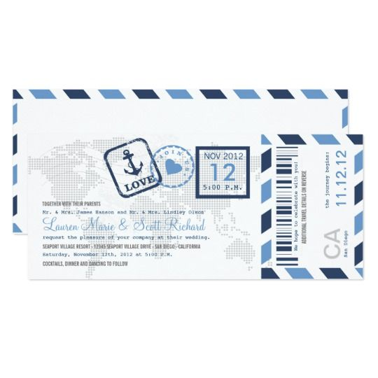 The 25+ best Boarding pass invitation ideas on Pinterest - printable ticket paper