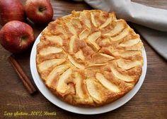 Torta di mele light senza glutine e senza grassi aggiunti , come burro e olio. Preparata con solo farine naturalmente senza glutine e con zucchero di canna