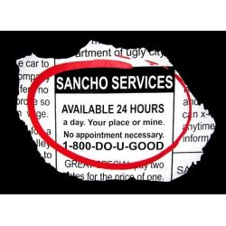 Funny Mexican T-Shirts: Sancho Services