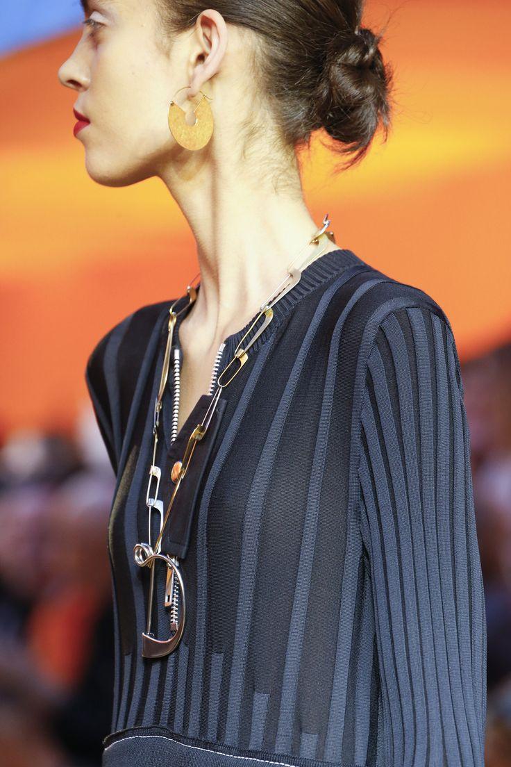 Graduated rib knit: Céline Spring 2016 Ready-to-Wear Accessories Photos - Vogue