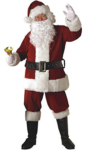 Softsnow Holidays Complete Santa Claus Christmas Suit Costume for Men
