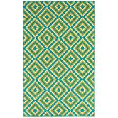 good for breakfast nook/kitchen  Found it at Wayfair - Shaw Rugs Al  Fresco Turquoise Jacqui Rug
