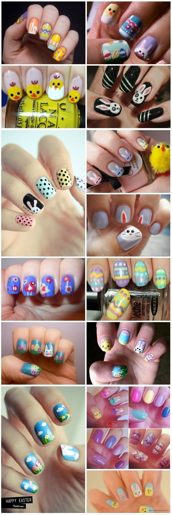 DIY Easter Nail Art Please visit our website @ http://rainbowloomsale.com