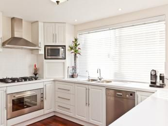 U Shaped Kitchen Design Microwave Placement