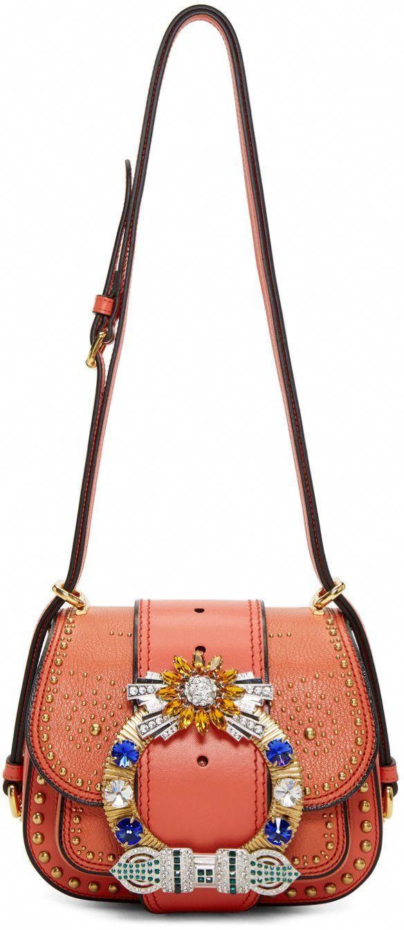 b1c1bf2b966 MIU MIU Red Dahlia Bag. #miumiu #bags #shoulder bags #crystal #suede  #lining #
