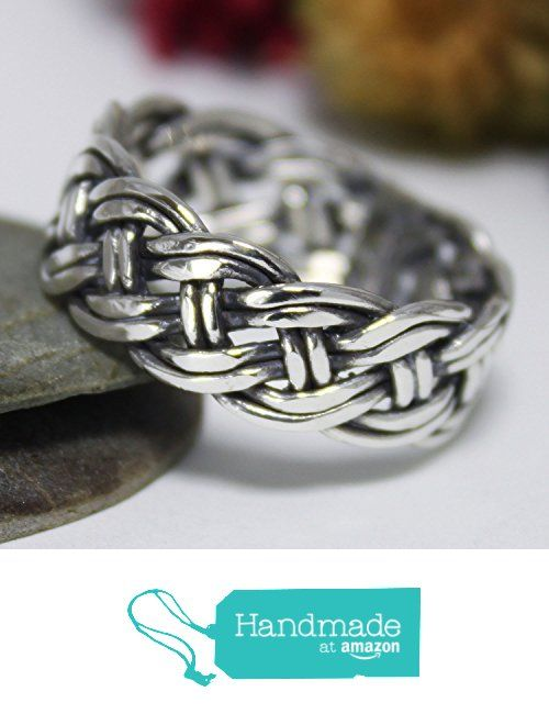 Plaited Band Ring, Weave Sterling Silver Wire Ring, Band Ring, Wedding & Engagement Ring, Basket Ring, Everyday Ring from rosajuri https://www.amazon.com/dp/B06Y27N4RB/ref=hnd_sw_r_pi_dp_B2eczb0DP12QS #handmadeatamazon