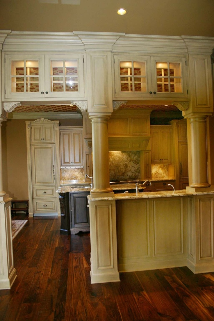 20 best interior kitchen load bearing wall images on pinterest maple kitchen with walnut island love the over head cabinets in entrance