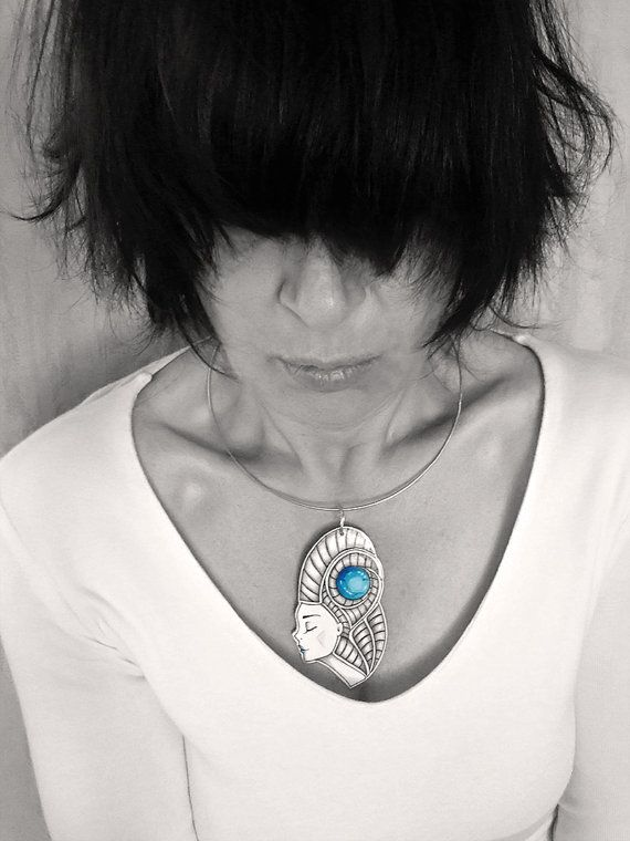 Paper Jewelry  Paper Pendant  Paper Necklace  Custom by TheRollyS