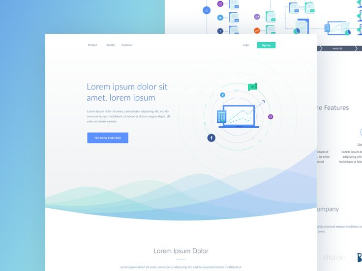 Here's one of the landing page work that we really liked recently, although it doesn't make the final design. We particularly like the wave part :)