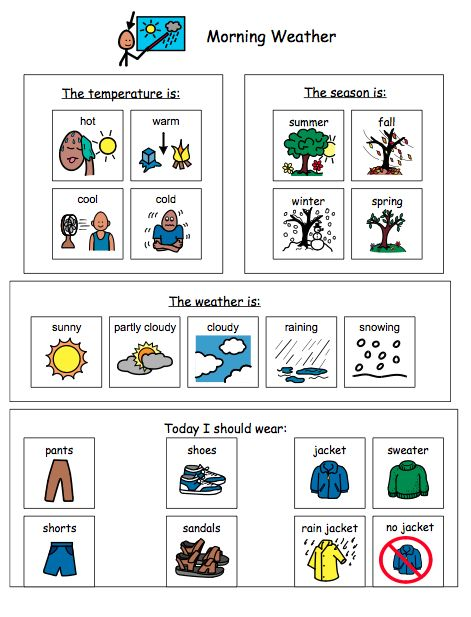 Weather Worksheet - laminate and use with a dry erase marker each day!