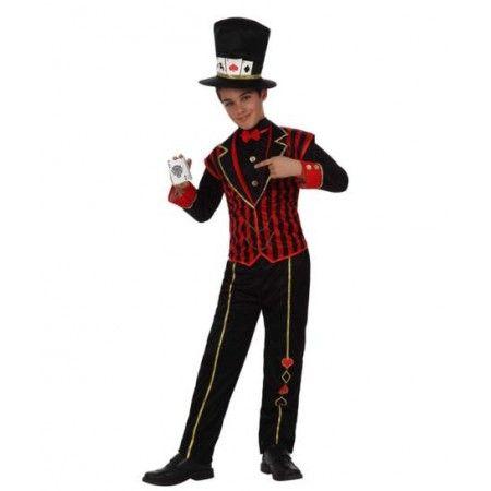 Disfraz de Croupier Poker  Incluye: Chaqueta, pantalon y sombrero  Composición: Punto http://www.disfracessimon.com/disfraces-infantiles-bebe-nino-nina/2666-disfraz-croupier-poker-nino.html