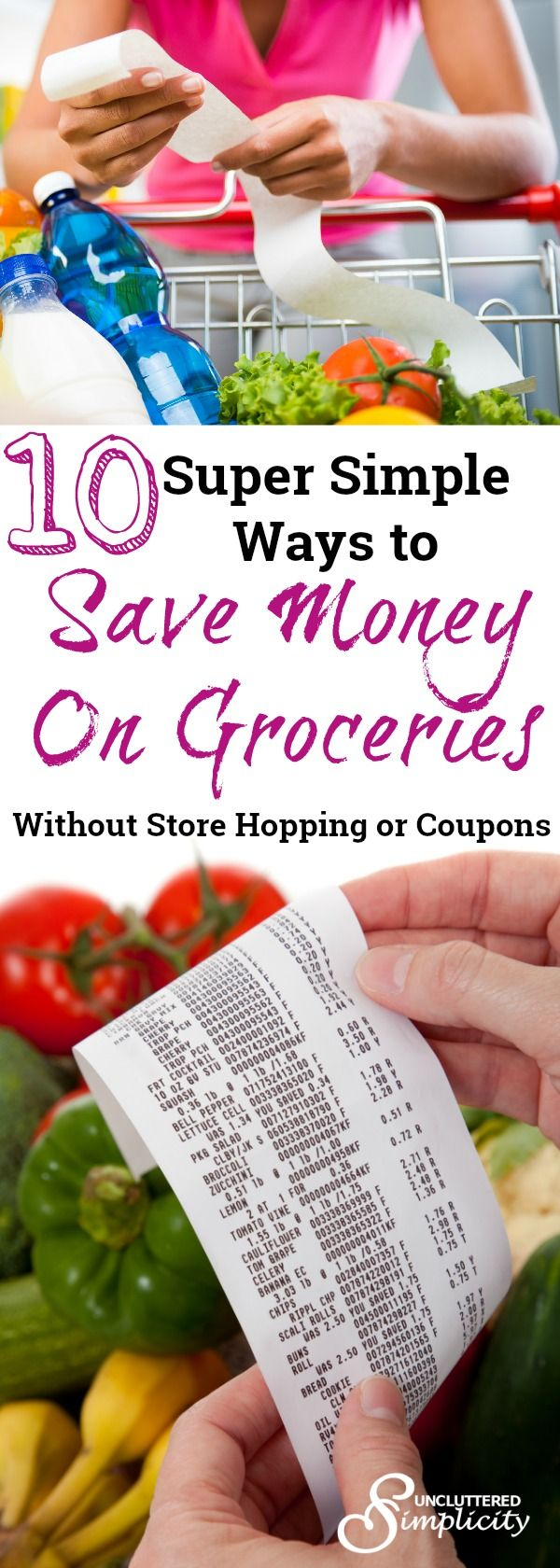 save money on groceries without coupons | tips to save money at the grocery store | money saving ideas via @CherylLemily