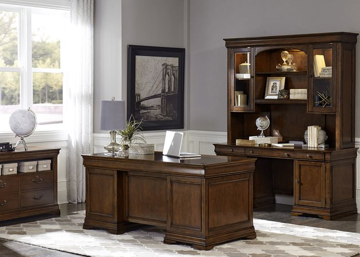 Chateau Valley Executive Desk Set | Liberty | Home Gallery Stores