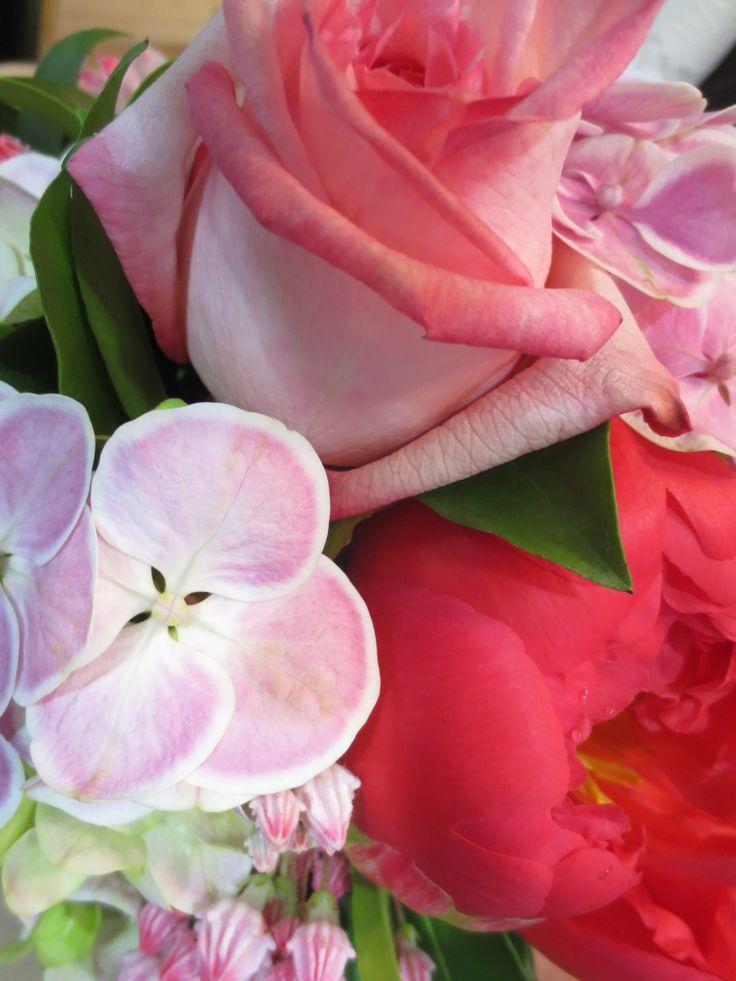Peony, Hydrangea, Rose and Kahlmia posy
