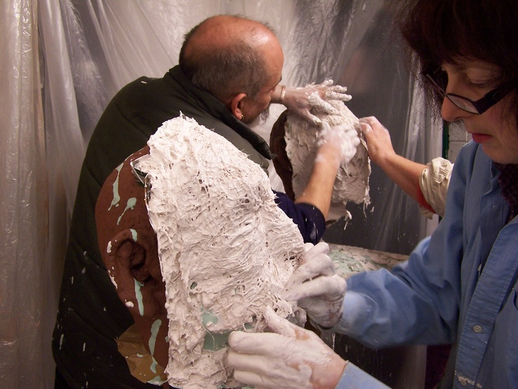 Plaster waste mould stage 3,