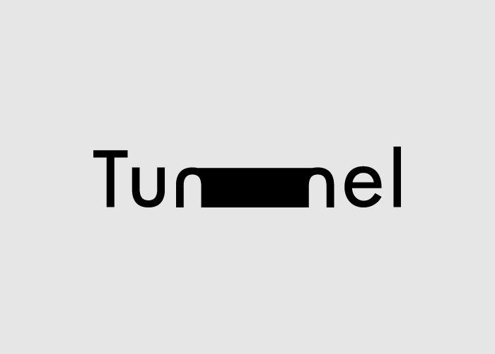 The bold black bar draws the eye into this design and then the tunnel it makes using the two n's in the word tunnel itself keeps the viewer looking and scanning this logotype. Great job.