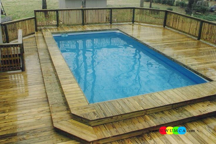 25 best ideas about rectangle above ground pool on pinterest oval above ground pools best Diy resurfacing concrete swimming pool deck ideas